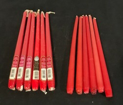"""Lot of 12 Red Taper Candles - 12"""" - Candle-lite Brand - New - $15.20"""