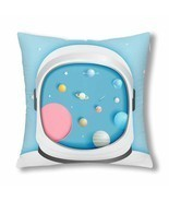 "InterestPrint? Astronaut With Universe Throw Pillow Cover 18""x 18""(Twin ... - ₹1,007.26 INR"