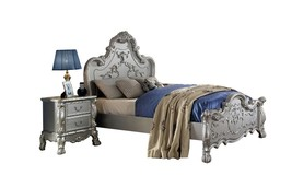 Soflex Classic Lecce Kids Full Bedroom Set 2P Silver Ornate Scrolled Traditional