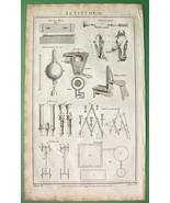 18th CENTURY SCIENCE Organ Pipes Pentagraph Ice House - 1788 Folio Antiq... - $7.64