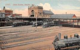 Union Railroad Train Depot Omaha Nebraska 1910 postcard - $6.93