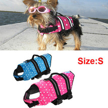 Pet Dog Cat Life Jacket Safety Float Waterproof Adjustable  Size S (BLUE) - $17.63