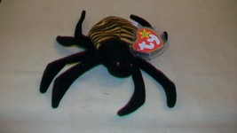 Spinner the Spider Ty Beanie Baby DOB October 28, 1996 2 Errors Tush Tag... - $7.42