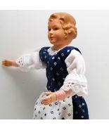 Dressed Lady Doll 1753 Caco Dirndl in White & Navy Flexible Dollhouse Mi... - $28.79