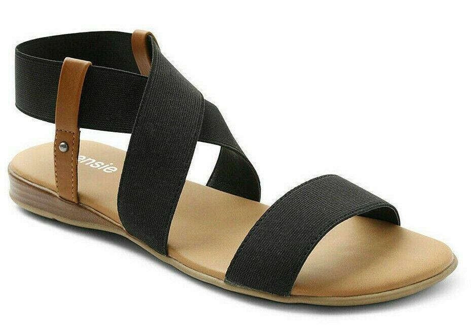 Kensie Womens Brianna Black Open Toe Strap Sandals New in Box