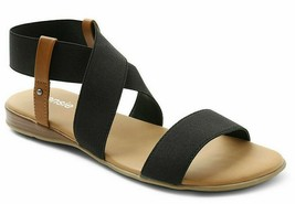 Kensie Womens Brianna Black Open Toe Strap Sandals New in Box