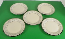 Lenox WINDSONG Bread and Butter Side Plate (s) LOT OF 5 White Flowers - $33.61