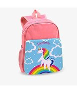 Rainbow Unicorn Custom Kids Pink Backpack - $9.99