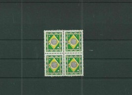TRADE PRICE STAMPS BRASIL RARE TRIAL TEST DUMMY STAMPS BLOCK OF 4 - $29.17