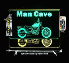 Motorcycle Personalized LED Man Cave Sign- Garage Sign, Bar sign, Neon - $96.03+