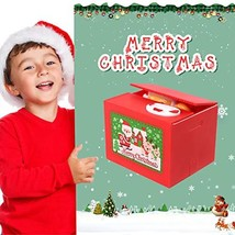 Wlive Stealing Coin Bank,Automated Santa Money Coin Bank Christmas Coin ... - $9.26