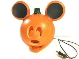 VTG Disney Mickey Mouse Light Up Jack O Lantern Halloween Pumpkin Blow M... - $29.64
