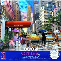 1000 Piece Jigsaw Puzzle Ceaco Cities David Maclean 27 in x 19 in, NEW YORK CITY - $24.65