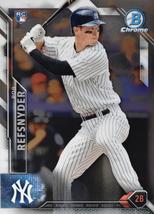 2016 Bowman Chrome #127 Rob Refsnyder RC Rookie Card > New York Yankees - $0.99