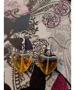 Brand New Handmade Yellow Heart Earrings - $9.99