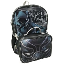 Black Panther Backpack and Detachable Lunch Kit Black - $26.98