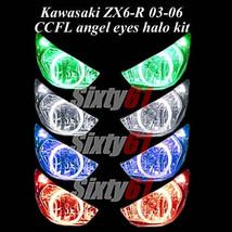 Kawasaki ZX6R 2003 2004 2005 2006 CCFL Demon Angel Eyes Halo lights ring... - $69.29