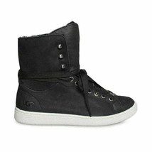 Ugg Starlyn Black Nubuck Hight Top Sporty Womens Sneakers Size Us 7/UK 5.5 New - $91.99