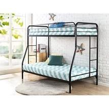 Metal Bunk Bed Frame Cot Over Twin Ladder Kids Teen Bedroom Spare Room F... - $185.95