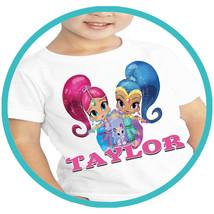 Shimmer and Shine Girls T-shirt Apparel T Shirt Shirts Tshirt Personaliz... - $15.99