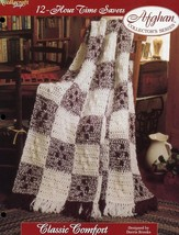 Classic Comfort Afghan Tns 12 Hour Time Savers Crochet PATTERN/INSTRUCTIONS New - $1.77