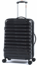Hardside Spinner Suitcase Rolling Luggage 24-Inch Travel Black Hard Side... - $97.70