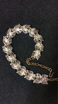 SALE*** Vintage ART signed choker necklace designer RARE platinum tone A... - $8.00