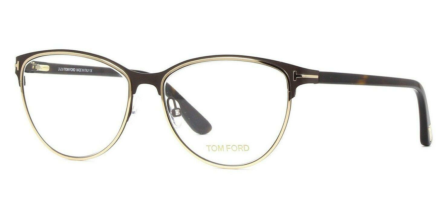 NEW Tom Ford TF 5420 049 Matte Brown/Gold Women's Cat Eye Eyeglasses Frames 54mm - $128.45