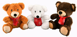 Teddy Bear with Snowflake Scarf for Dog Toy 3pk  - $51.98 CAD