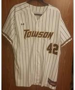 Towson University Tigers Baseball Jersey Under Armour Mens NCAA #42 - $40.46