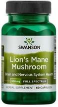Swanson Full Spectrum Lion's Mane Mushroom 500 mg, 60 Capsules UK Quick Delivery - $17.13