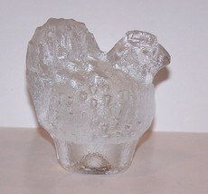 LOVELY VINTAGE KOSTA BODA SWEDEN ART GLASS CHICKEN/HEN FIGURINE PAPERWEIGHT - $21.03