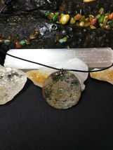 "Necklace, Yin-Yang Symbol W/ Dragon Hand Carved Natural Jasper Women Men ""B"" image 3"