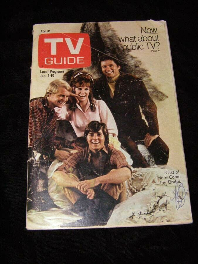 Primary image for TV Guide January 4 1969  Here Come The Brides Jack Lord Hawaii Five-O David Soul