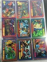 Folder Of Over 100 Marvel Superhero Cards - $25.99
