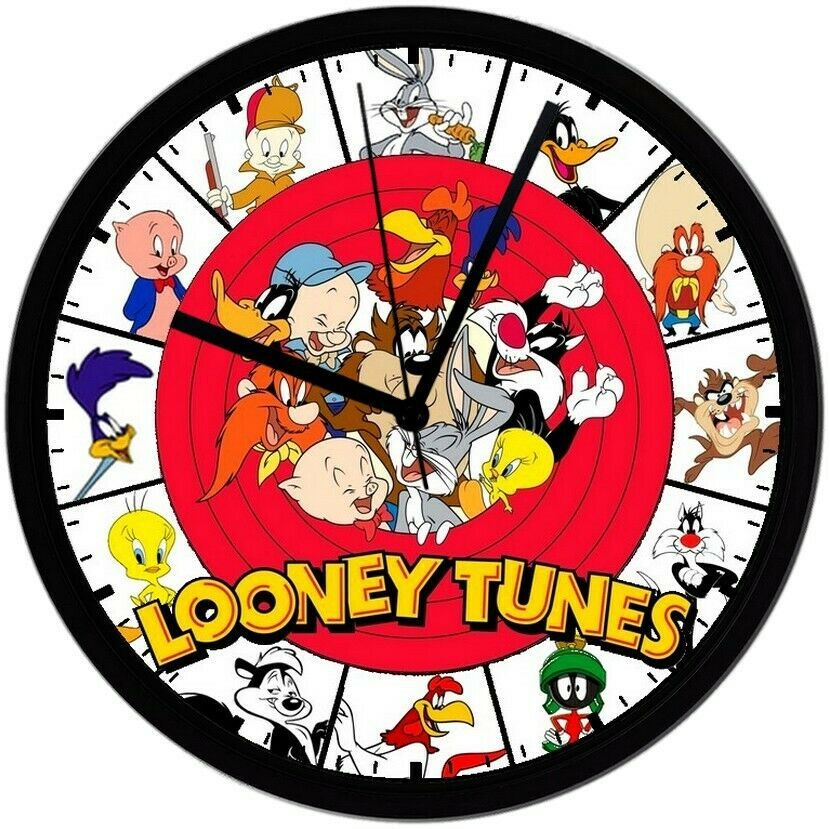 Primary image for Looney Toons! 8in. Unique Homemade Wall Clock, Battery Included, Free Shipping!