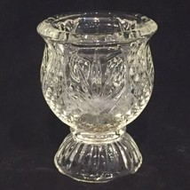 Depression Glass Egg Cup Egg Glass Toothpick Holder Bud Vase Clear Glass - $14.80