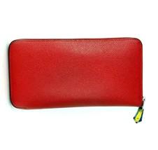 AUTH HERMES Azap Togo Calfskin Palladium Plated Zipper Wallet Coin Case ... - $444.51