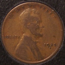 1925-S Lincoln Wheat Back Penny F12 #848 image 1
