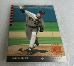 1993 Upper Deck SP Mike Mussina #160 HOF Pitcher Baltimore Orioles Card! 2d Year - $1.51