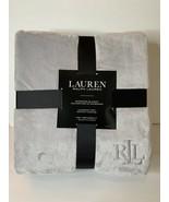 "Ralph Lauren King 108"" x 90"" Micromink Blanket Soft Throw Quiet Gray Silver NWT - $67.95"