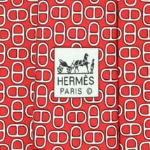 100% Auth HERMES TIE Silk Necktie Mens CHAINE D ANCRE GEOMETRIC Pattern ... - $122.95