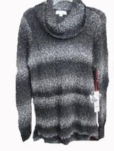 Elle long sleeve stripe turtleneck tunic sweater SIZE MEDIUM BRAND NEW W... - $19.75