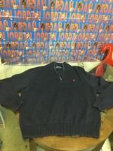 Men's Polo Ralph Lauren Quarter Zip Sweater XL Good Condition - $17.81