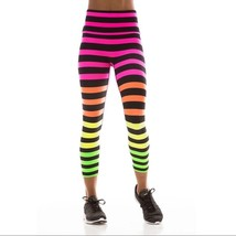 K-Deer Women's Rainbow Josephine Stripe Capri Length Leggings [KDR-00103]