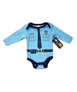 Police Chief Baby Infant Boy's Blue Costume Creeper (3/6 Months, Long Sl... - $2.99