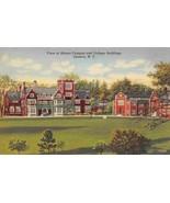 Hobart College Campus Geneva New York linen postcard - $4.90
