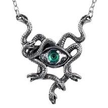 Gorgons Green Eye Stheno Necklace Medusa Snakes Serpents Alchemy Gothic P847 New - $48.95