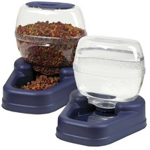 Automatic Pet Feeder Cat Dog Food Water Dispenser Waterer Dish Bowl Comb... - $23.99