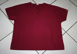 Dickies Scrub Top Size L - Dickies Size L Red Scrub Top  - Style #10106  - $7.99